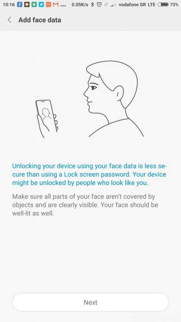 فناوری Face ID تشخیص چهره درگوشی های شیائومی