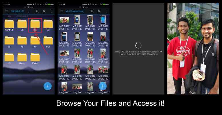 مرورفایلهای کامپیوتردر Mi Phone از طریق وای فای,اشتراک گذاری در گوشی شیائومی,شیائومیxiaomi